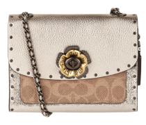 Crossbody Bag aus Leder mit Blüten-Applikation