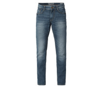 Old Blue Washed Straight Fit 5-Pocket-Jeans