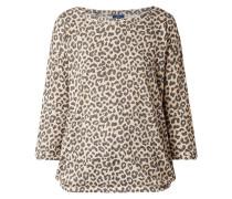 Strickshirt mit Leopardenmuster