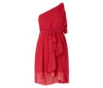 One-Shoulder-Kleid aus Chiffon