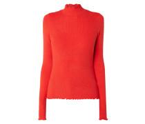 Pullover mit gewellten Abschlüssen