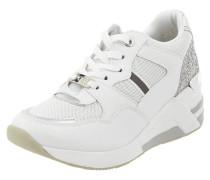Sneaker Wedges aus Mesh