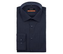 Slim Fit Business-Hemd mit Punktemuster