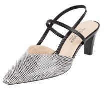 Sandalette aus Leder mit Hahnentritt