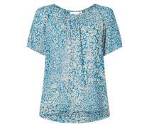 Blusenshirt aus Viskose mit floralem Muster