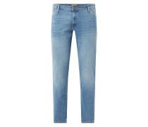 PLUS SIZE Slim Fit Jeans mit Stretch-Anteil Modell 'Glenn'