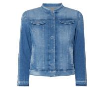 Jeansjacke mit Druckknopfleiste