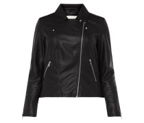 PLUS SIZE Bikerjacke in Leder-Optik