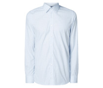 Body Fit Business-Hemd mit Karo-Dessin