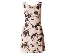 Kleid mit abstraktem Blumenmuster