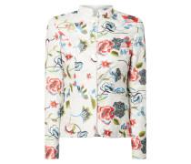 Blazer mit floralen Stickereien