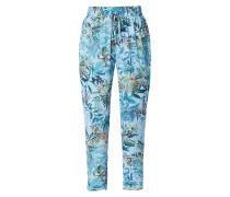Easy Pants aus Krepp mit floralem Muster