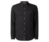 Tailored Fit Leinenhemd mit Brusttasche