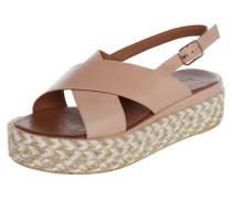 Sandalette aus Leder mit gekreuzten Riemen