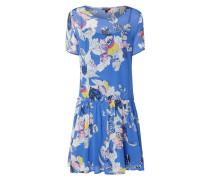 Kleid aus Chiffon mit abstraktem Blumenmuster
