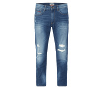 Modern Tapered Fit Jeans im Destroyed Look