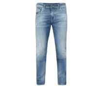 Slim-Skinny Fit Jeans im Heavy Used Look