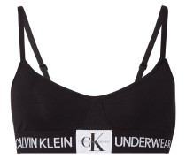Bralette mit Logo-Applikation