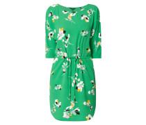 Kleid mit Tunnelzug und floralem Muster