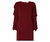 Kleid aus Krepp mit Volantbesatz