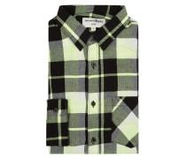 Slim Fit Flanellhemd aus Baumwollmischung