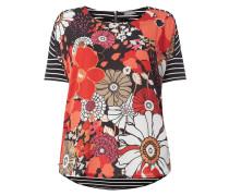 PLUS SIZE - T-Shirt mit Kontrastbesatz