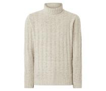 Rollkragen-Pullover aus Wollmischung