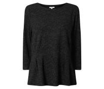 Sweatshirt in Salz-und-Pfeffer-Optik