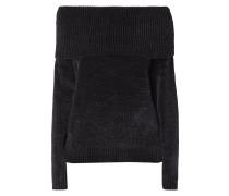 Off Shoulder Pullover aus Samtgarn