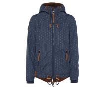 Jacke mit Kapuze und Allover-Muster