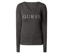 Pullover mit Logo aus Ziersteinen