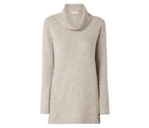 Rollkragen-Pullover mit Woll-Anteil