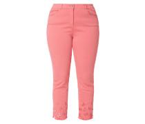 PLUS SIZE - Coloured Slim Fit Jeans mit Stickereien