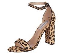 Sandalette aus Ponyfell mit Leopardenmuster