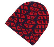 Beanie mit Logo-Muster