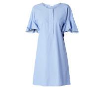 Kleid in Denimoptik mit Volantärmeln