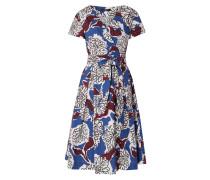 Kleid in Wickel-Optik mit floralem Muster