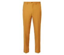 Straight Fit Anzug-Hose mit Webstruktur