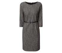 Kleid mit Dreiviertel-Ärmeln und Effektgarn