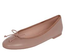 Ballerinas aus Leder mit Zieschleife