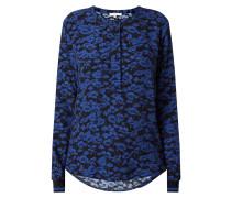 Bluse aus reiner Viskose mit floralem Muster
