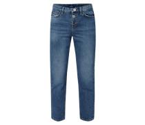 Straight Fit Jeans mit Schmuckdetail