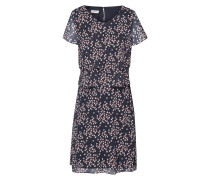 Kleid im Stufen-Look mit Kreismuster