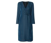 Kleid aus Samt in Wickeloptik