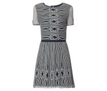 Kleid mit Streifenmuster und maritimen Details
