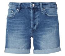 5-Pocket-Jeansshorts mit Used-Effekten