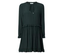 Kleid aus Viskose mit Rüschenbesatz
