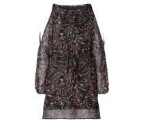 Cold Shoulder Kleid mit Taillenband