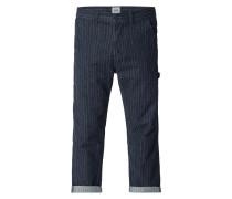 Loose Fit Jeans mit Streifenmuster