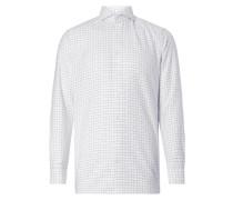 Modern Fit Business-Hemd mit Gitterkaro